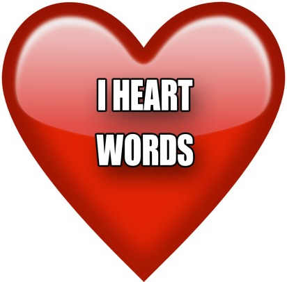 I heart words funny emoji meme