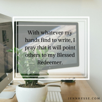 Hands write point to Redeemer